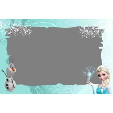 Greeting card Frozen F-002
