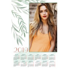 Single sheet calendar Sample 210