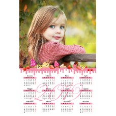 Single sheet calendar Sample 214