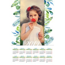 Single sheet calendar Sample 215
