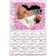 Single sheet calendar Sample 004