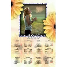 Single sheet calendar Sample 006