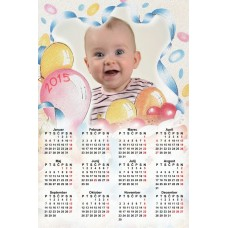 Single sheet calendar Sample 010