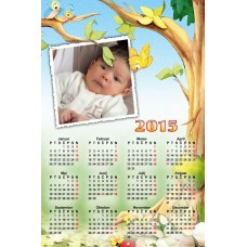 Single sheet calendar Sample 012