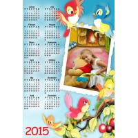Single sheet calendar Sample 014