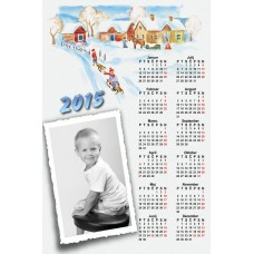Single sheet calendar Sample 017