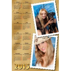 Single sheet calendar Sample 025