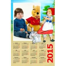 Single sheet calendar Sample 027