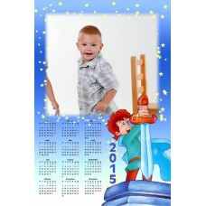 Single sheet calendar Sample 028