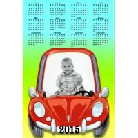 Single sheet calendar Sample 034