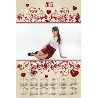 Single sheet calendar Sample 060