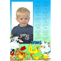 Single sheet calendar Sample 121