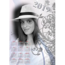 Single sheet calendar Sample 222